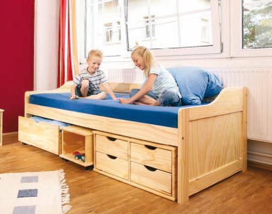 bett maximus aus kiefernholz. Black Bedroom Furniture Sets. Home Design Ideas