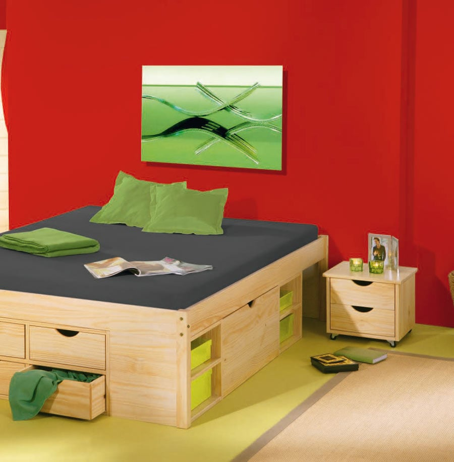 bett maximus ii aus kiefernholz. Black Bedroom Furniture Sets. Home Design Ideas
