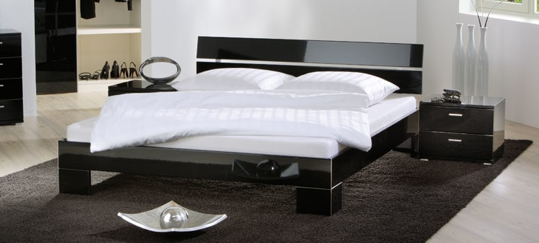 wasserbett mit hasena movieline gloss bettgestell. Black Bedroom Furniture Sets. Home Design Ideas