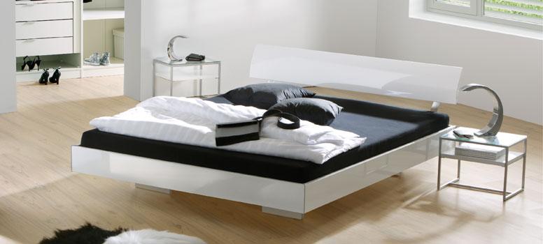 hochglanz bettgestell hasena movieline gloss. Black Bedroom Furniture Sets. Home Design Ideas