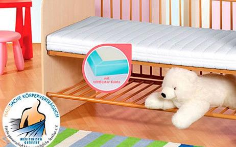 matratze f r kinder in 70 x 140cm gr e. Black Bedroom Furniture Sets. Home Design Ideas