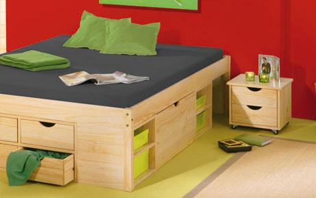 bett maximus ii aus kiefernholz. Black Bedroom Furniture Sets. Home Design Ideas