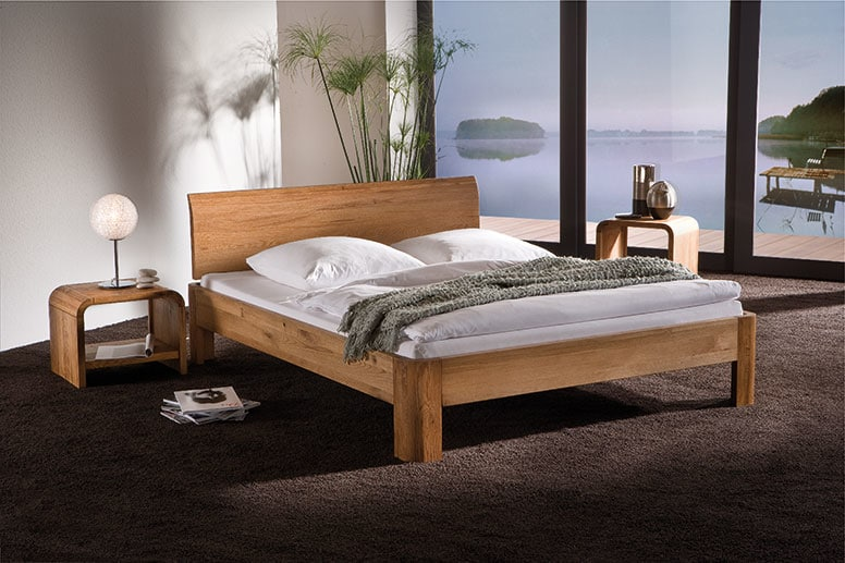 Wasserbett holz  Massivholz Bettgestell Oakline von Hasena