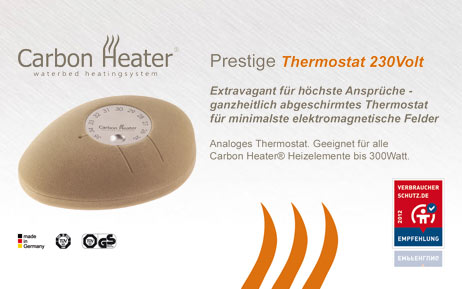 carbon heater wasserbett heizung thermostat. Black Bedroom Furniture Sets. Home Design Ideas