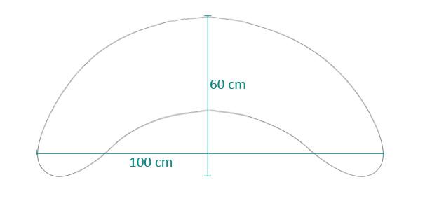Größe des Bumerangkissens