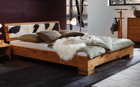 eiche massivholz bettgestell oakline wild. Black Bedroom Furniture Sets. Home Design Ideas