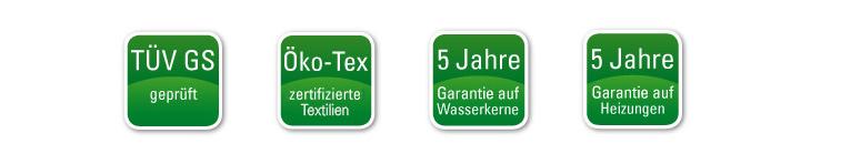 Oeko-Tex und TÜV GS Zertifikat