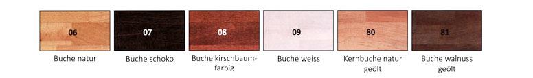 Woodline Bettgestell Echtholz Hasena Farben