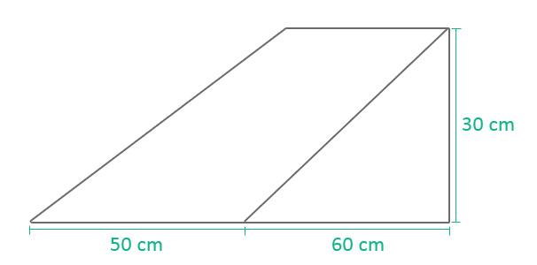Größe des Keilkissens