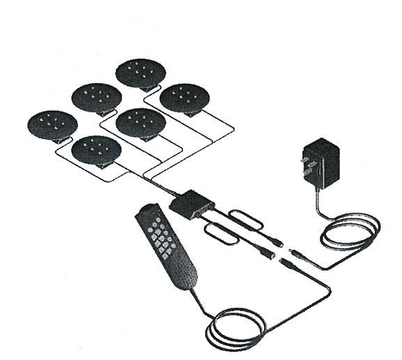 massagesystem mit 6 massage motoren f r schaum und latexmatratzen von vibradorm ebay. Black Bedroom Furniture Sets. Home Design Ideas