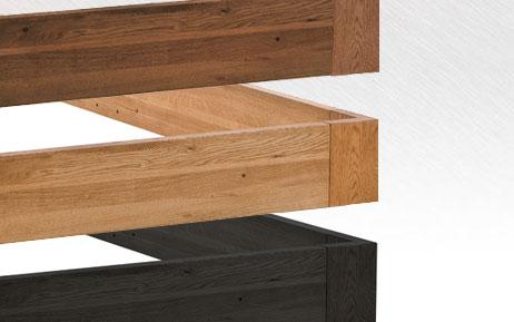 wasserbett mit hasena oakline massivholz bettgestell. Black Bedroom Furniture Sets. Home Design Ideas