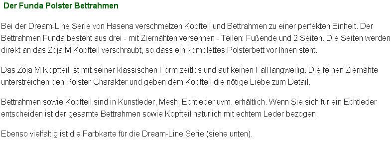 Produktbeschreibung des Wasserbettes + Dream-Line Polsterbettes Funda