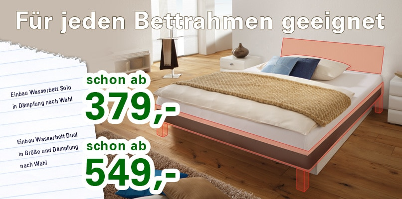 wasserbett g nstig und gut. Black Bedroom Furniture Sets. Home Design Ideas