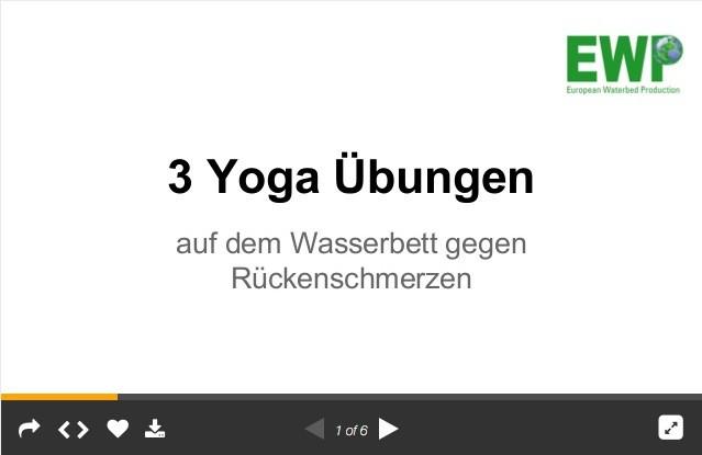 Yoga auf dem Wasserbett