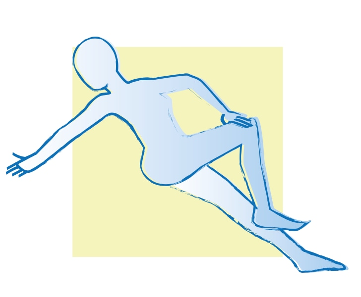 Yoga auf dem Wasserbett gegen Verklemmungen